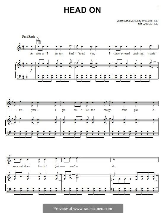 Head On (Pixies): Für Stimme und Klavier (oder Gitarre) by James Reid, William Reid