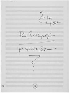 Pièce clavithérapeutique pour les mains de Suzanne (für eine Hand): Pièce clavithérapeutique pour les mains de Suzanne (für eine Hand) by Ernst Levy