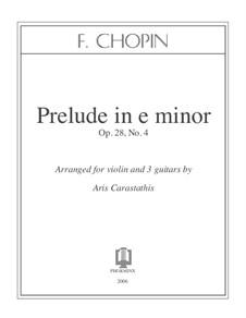 Nr.4 in e-Moll: Für Violine und drei Gitarren by Frédéric Chopin