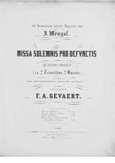 Missa solemnis pro defunctis: Stimmen by François-Auguste Gevaert