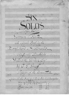 Sechs Sonaten für Flöte und Basso Continuo, Op.5: Sechs Sonaten für Flöte und Basso Continuo by Johann Georg Graeff