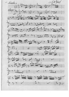 Drei Sonaten für Flöte und Basso Continuo: Drei Sonaten für Flöte und Basso Continuo by Friedrich Hartmann Graf
