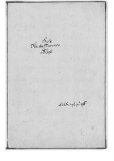 Sonate für Flöte und Basso Continuo in G-Dur: Sonate für Flöte und Basso Continuo in G-Dur by Friedrich Hartmann Graf