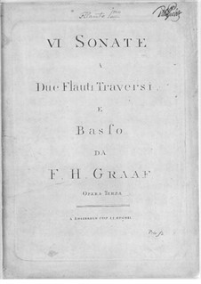Sechs Triosonaten, Op.3: Stimmen by Friedrich Hartmann Graf
