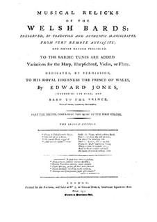 Musik- und Versreliquien der walisischen Barden (Stücke): Musik- und Versreliquien der walisischen Barden (Stücke) by Edward Jones