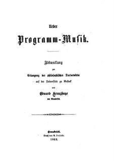 Über Programm-Musik: Über Programm-Musik by Eduard Kreuzhage