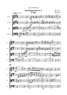 Streichquartett Nr.1: 2. Satz, Op.57b by Jürgen Pfaffenberger