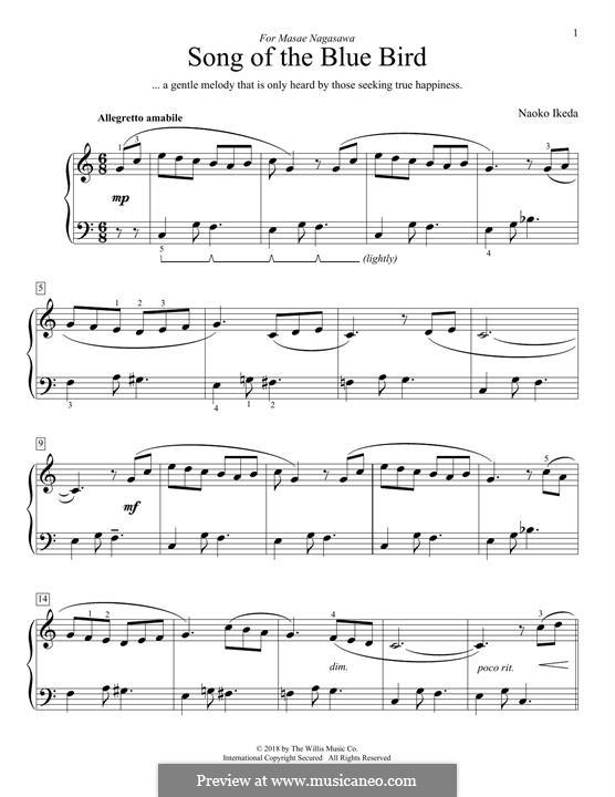 Song of the Blue Bird: Für Klavier by Naoko Ikeda