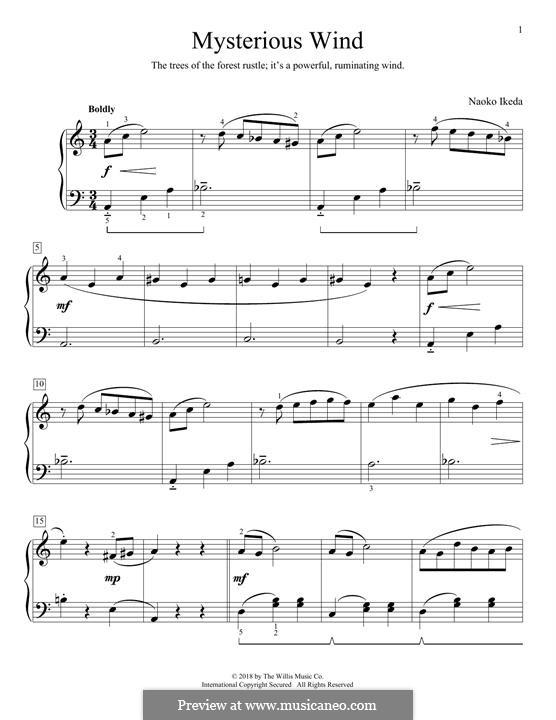 Mysterious Wind: Für Klavier by Naoko Ikeda