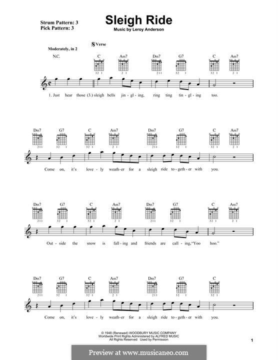 Sleigh Ride: Für Gitarre mit Tabulatur by Leroy Anderson