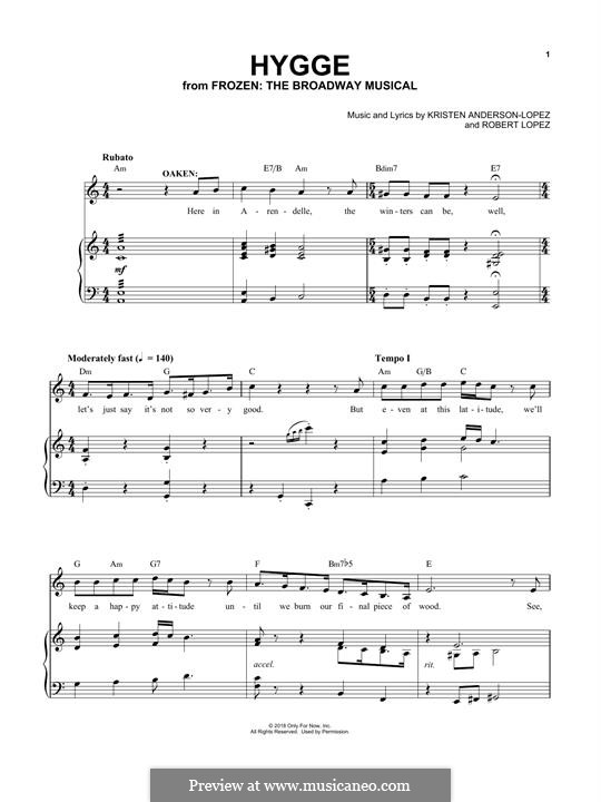 Frozen: The Broadway Musical: Hygge by Robert Lopez, Kristen Anderson-Lopez