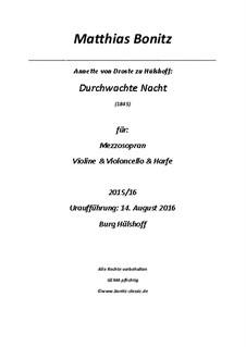 Durchwachte Nacht: Durchwachte Nacht by Matthias Bonitz