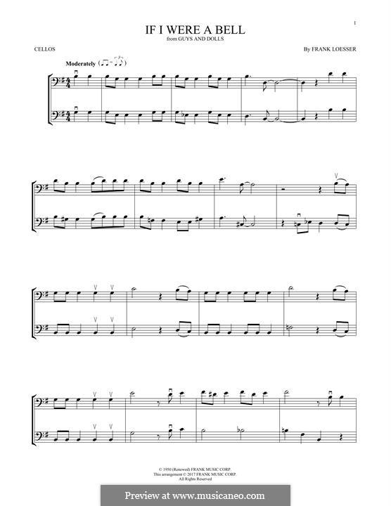 If I Were a Bell: Für zwei Violinen by Frank Loesser