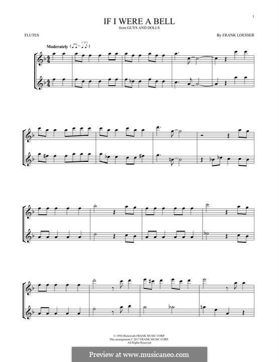 If I Were a Bell: Für zwei Flöten by Frank Loesser