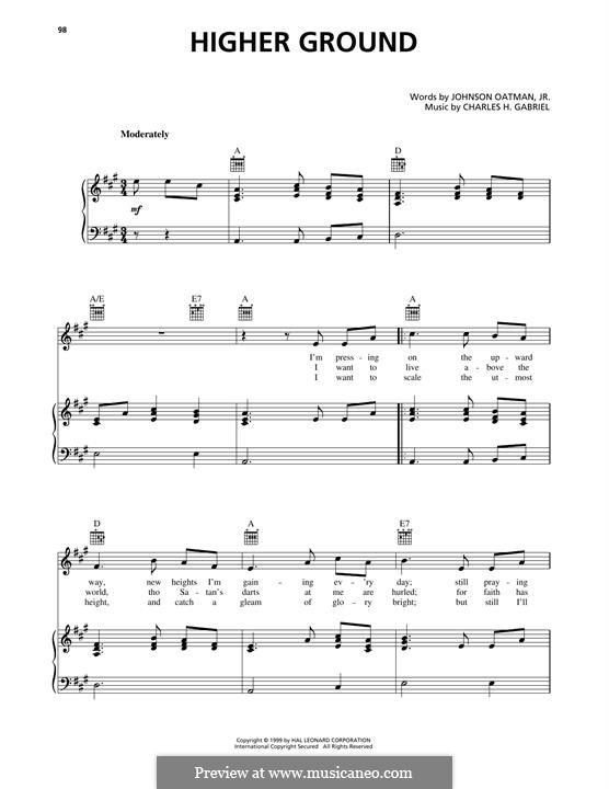 Higher Ground: Für Stimme und Klavier (oder Gitarre) by Charles Hutchinson Gabriel