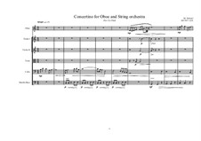 Concertino for Oboe, MVWV 1218: Concertino for Oboe by Maurice Verheul