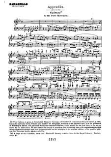 Konzert für Klavier und Orchester Nr.2, Op.19: Kadenz (Teil I) by Ludwig van Beethoven