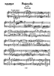 Bagatelle in B-Dur, WoO 60: Für Klavier by Ludwig van Beethoven