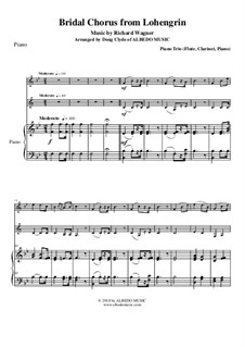 Brautlied: For flute, clarinet and piano by Richard Wagner