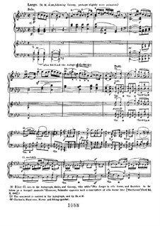 Konzert for Klavier und Orchester Nr.1, Op.15: Movement II, for piano four hands by Ludwig van Beethoven