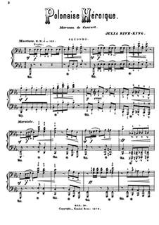 Heroische Polonäse: Für Klavier, vierhändig by Julie Rivé-King