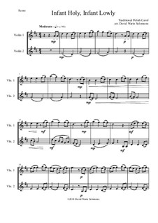 Infant Holy, Infant Lowly: For 2 violins by folklore