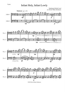 Infant Holy, Infant Lowly: For 2 cellos by folklore