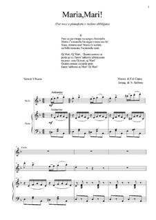 Maria, Mari: For violin, tenor and piano by Eduardo di Capua