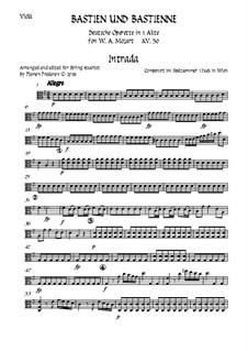 Bastien und Bastienne, K.50: Arranged for string quartet accompaniment – viola part by Wolfgang Amadeus Mozart