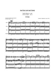 Bastien und Bastienne, K.50: Arranged for string quartet accompaniment - score by Wolfgang Amadeus Mozart
