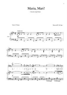 Maria, Mari: For baritone and piano by Eduardo di Capua