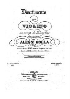 Divertissement für Violine und Klavier, BI 295: Divertissement für Violine und Klavier by Alessandro Rolla