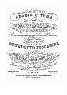 Adagio und Thema mit Variationen für Violine und Orchester, BI 488: Adagio und Thema mit Variationen für Violine und Orchester by Alessandro Rolla