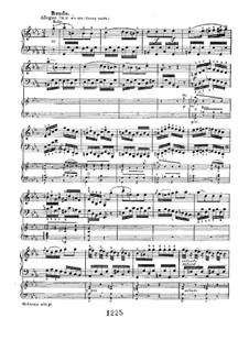 Konzert für Klavier und Orchester Nr.3, Op.37: Movement III, for piano four hands by Ludwig van Beethoven