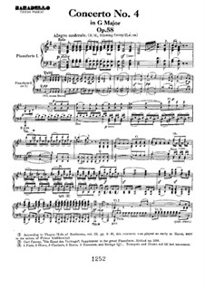 Fragmente: Movement I, for piano four hands by Ludwig van Beethoven