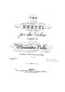 Drei Duos für zwei Violinen, BI 206, 228, 133 Op.20: Drei Duos für zwei Violinen by Alessandro Rolla