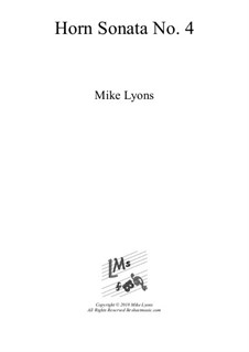 Horn Sonata No.4: Vollsammlung by Mike Lyons