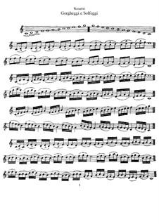 Gorgheggi e solfeggi: Vollsammlung by Gioacchino Rossini