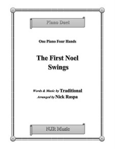 The First Noel Swings: For piano four hands, early intermediate by folklore