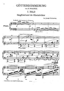 Transkription über Themen aus 'Götterdämmerung' von Wagner: Transkription über Themen aus 'Götterdämmerung' von Wagner by Jos. Rubinstein