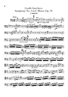 Sinfonie Nr.3 in c-Moll 'Orgelsinfonie', Op.78: Fagottstimme by Camille Saint-Saëns