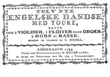 Zwölf Neu Englischer Tänze: Ausgabe 1789 by Claus Schall