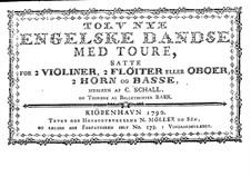 Zwölf Neu Englischer Tänze: Ausgabe 1790 by Claus Schall