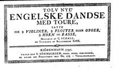 Zwölf Neu Englischer Tänze: Ausgabe 1791 by Claus Schall