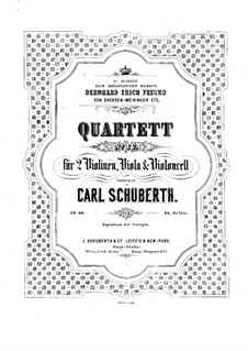 Streichquartett Nr.4 in a-Moll, Op.40: Cellostimme by Carl Schuberth
