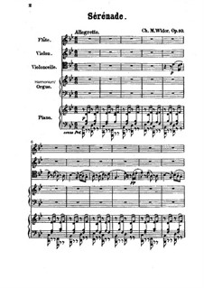Ständchen in B-Dur, Op.10: Vollpartitur by Charles-Marie Widor