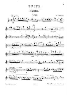 Suite für Flöte, Klarinette, Oboe und Klavier: Flötenstimme by Johan Amberg