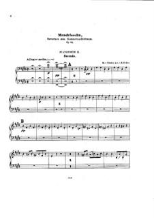 Ein Sommernachtstraum, Op.21: Ouvertüre, für zwei Klaviere, achthändig – Klavierstimme II by Felix Mendelssohn-Bartholdy