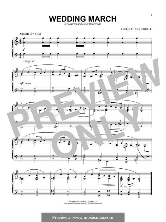 Wedding March: Für Klavier by Eugénie Rocherolle