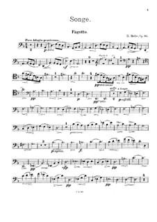 Songe, Op.80: Partitur für Klarinette, Fagott und Klavier – Fagottstimme by Heinrich Molbe